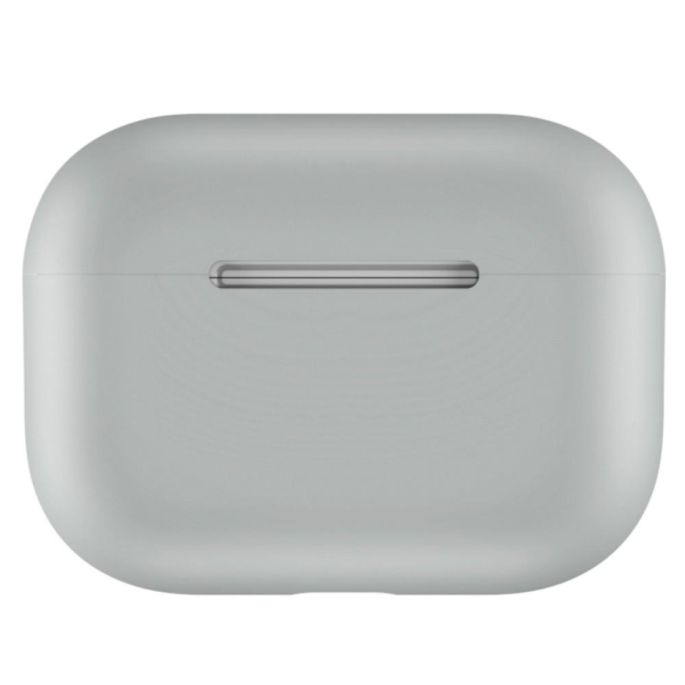 Чехол силиконовый для AirPods Pro, светло-серый цвет