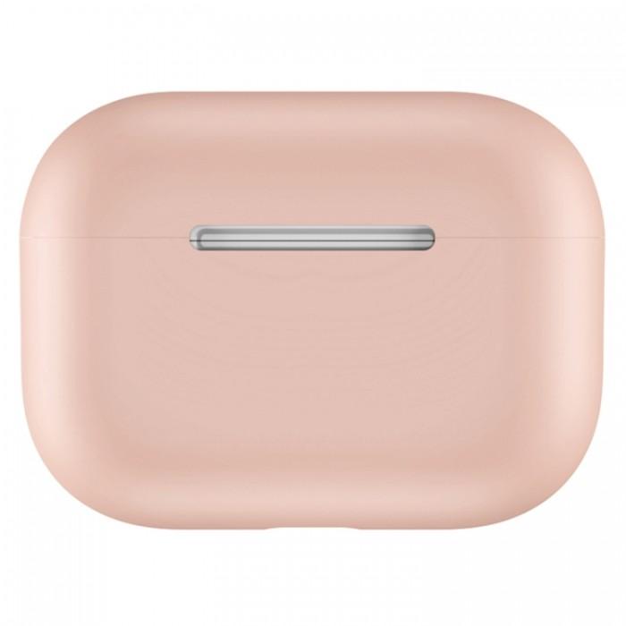 Чехол силиконовый для AirPods Pro, бледно-розовый цвет