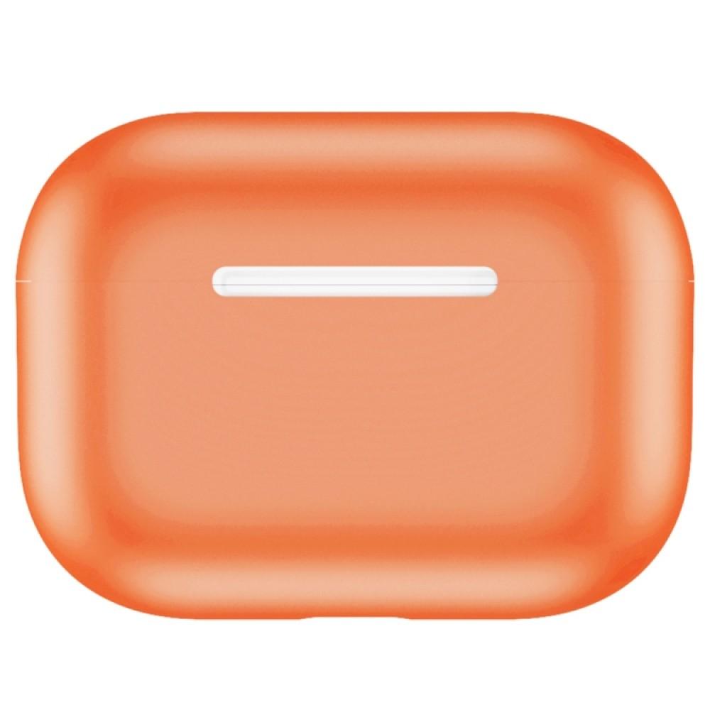 Чехол силиконовый для AirPods Pro, оранжевый цвет