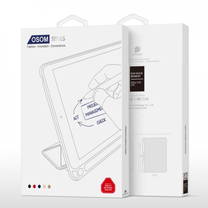 Чехол Dux Ducis Osom Series для iPad 2017/2018, красный цвет