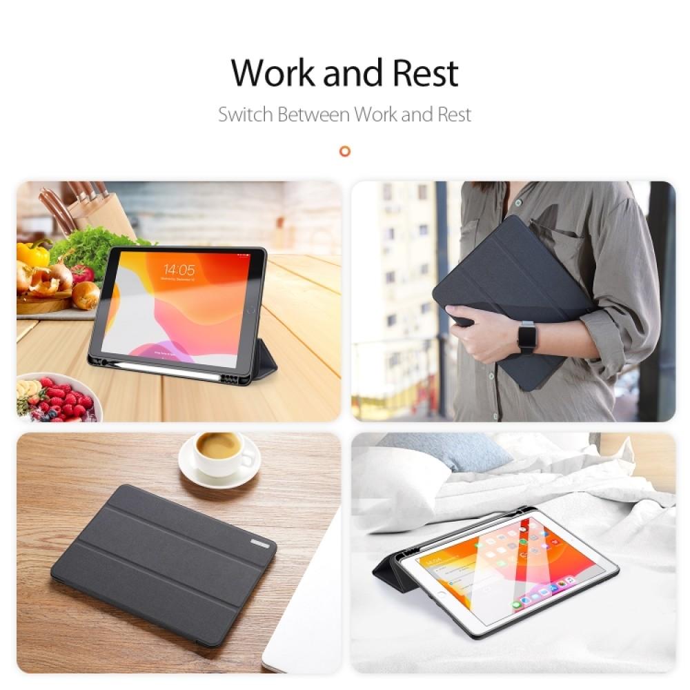 Чехол Dux Ducis Domo Series для iPad (2019) 10,2 дюйма, чёрный цвет