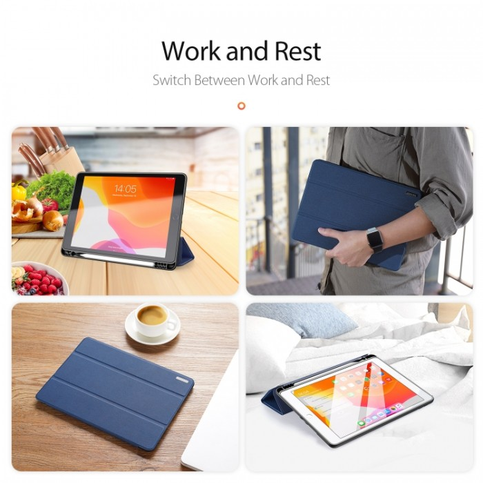 Чехол Dux Ducis Domo Series для iPad (2019) 10,2 дюйма, синий цвет