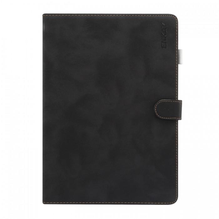 Чехол Enkay замшевая текстура для iPad (2019) 10,2 дюйма, чёрный цвет