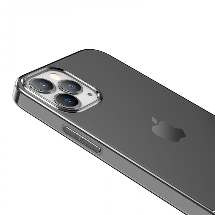 Чехол-накладка Hoco Light для iPhone 12 Pro Max, прозрачно-чёрный