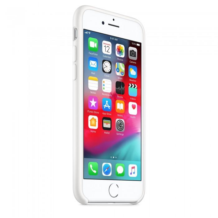 Чехол силиконовый Silicone Case для iPhone 7/8, белый цвет