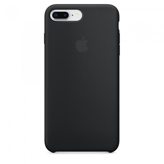 Чехол силиконовый Silicone Case для iPhone 7 Plus/8 Plus, чёрный цвет