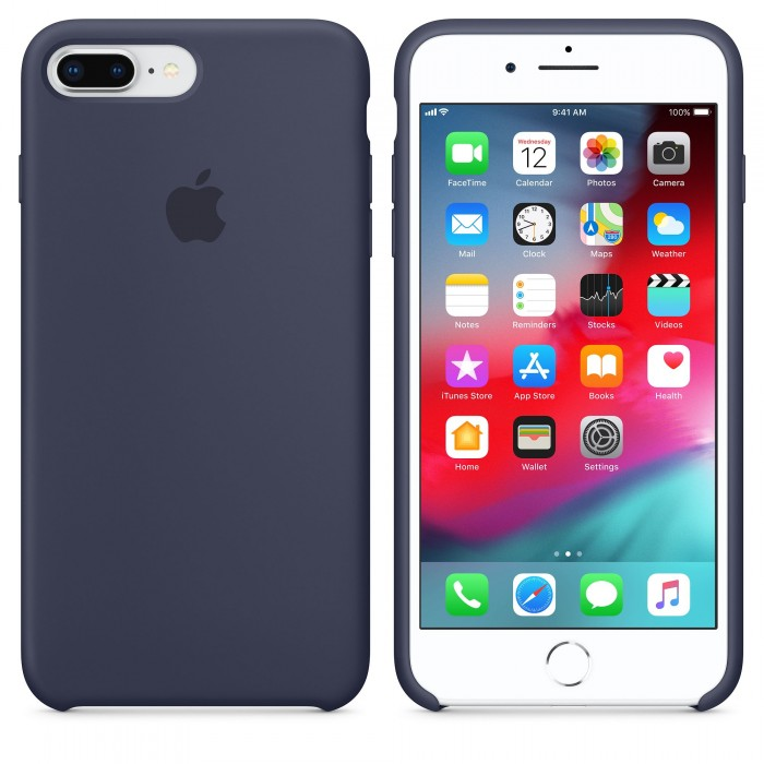 Чехол силиконовый Silicone Case для iPhone 7 Plus/8 Plus, тёмно-синий цвет