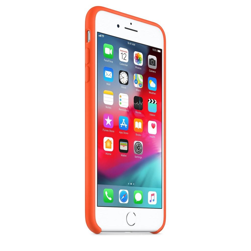 Чехол силиконовый Silicone Case для iPhone 7 Plus/8 Plus, цвет «оранжевый шафран»