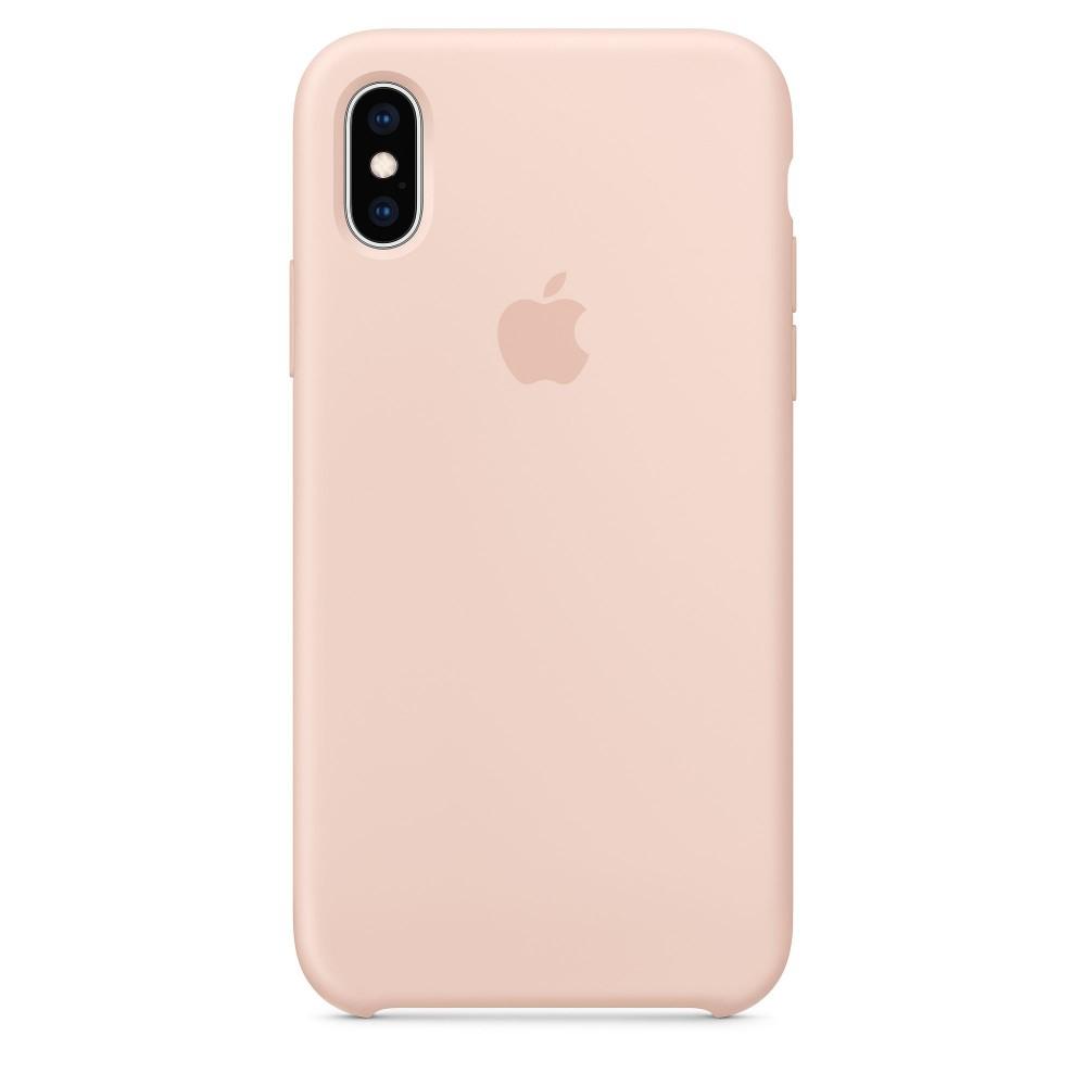 Чехол силиконовый Silicone Case для iPhone XS, цвет «розовый песок»