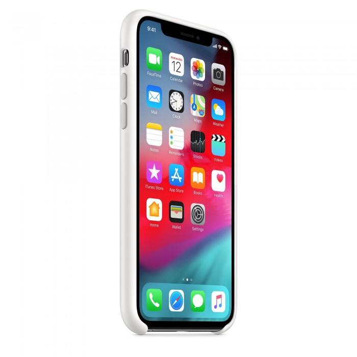 Чехол силиконовый Silicone Case для iPhone XS, белый цвет