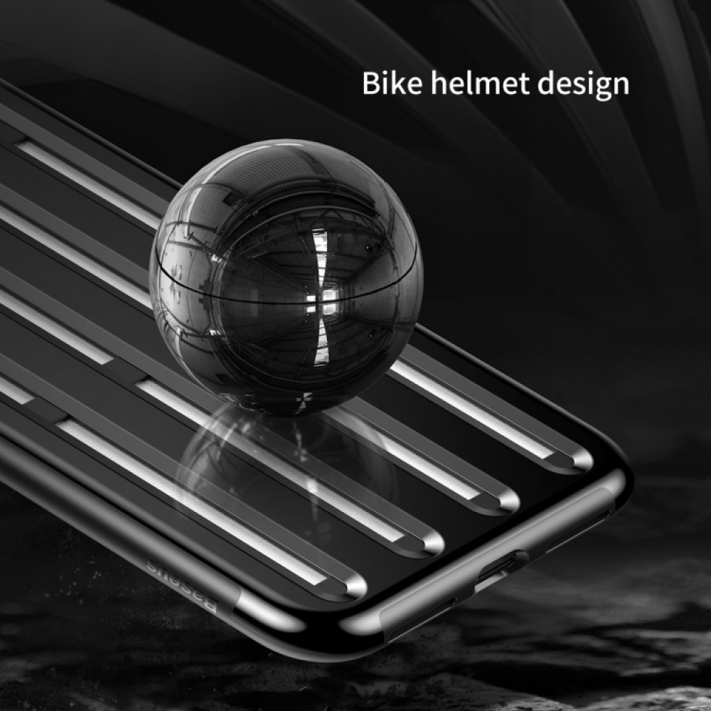 Чехол Baseus Cycling Helmet Case для iPhone XS Max, чёрный цвет