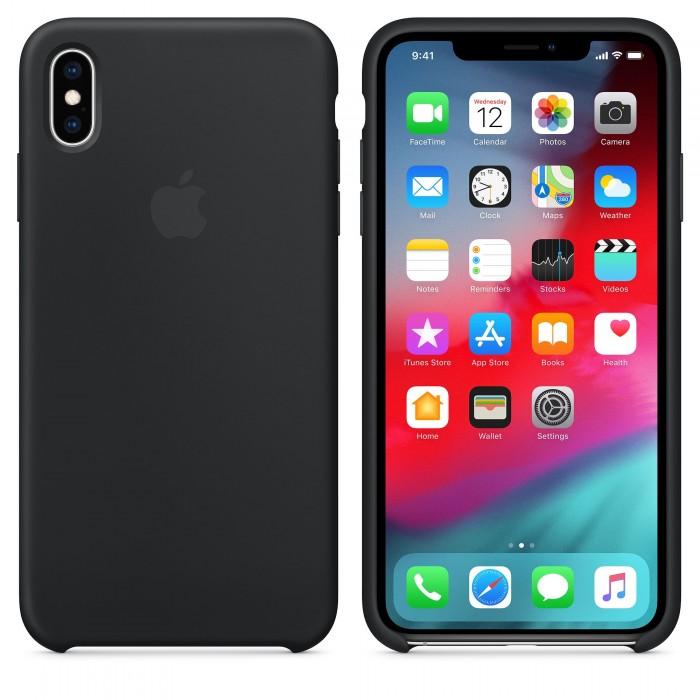 Чехол силиконовый Silicone Case для iPhone XS Max, чёрный цвет