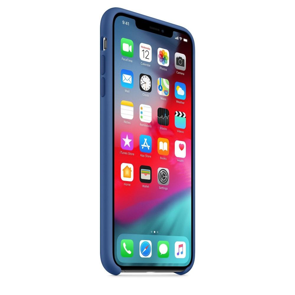 Чехол силиконовый Silicone Case для iPhone XS Max, цвет «голландский синий»