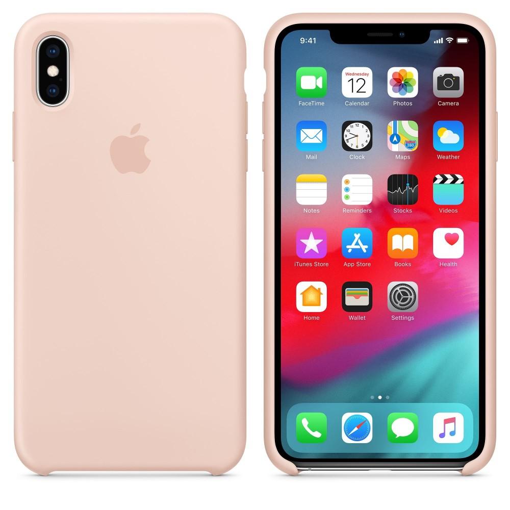 Чехол силиконовый Silicone Case для iPhone XS Max, цвет «розовый песок»