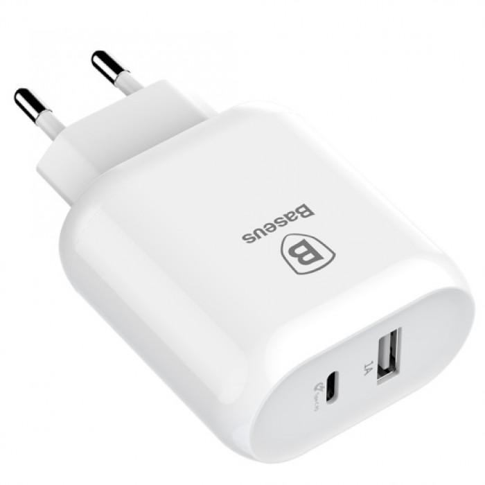 Сетевое зарядное устройство с кабелем Type-C - Lightning Baseus Bojure Series Type-C PD quick charge charging set