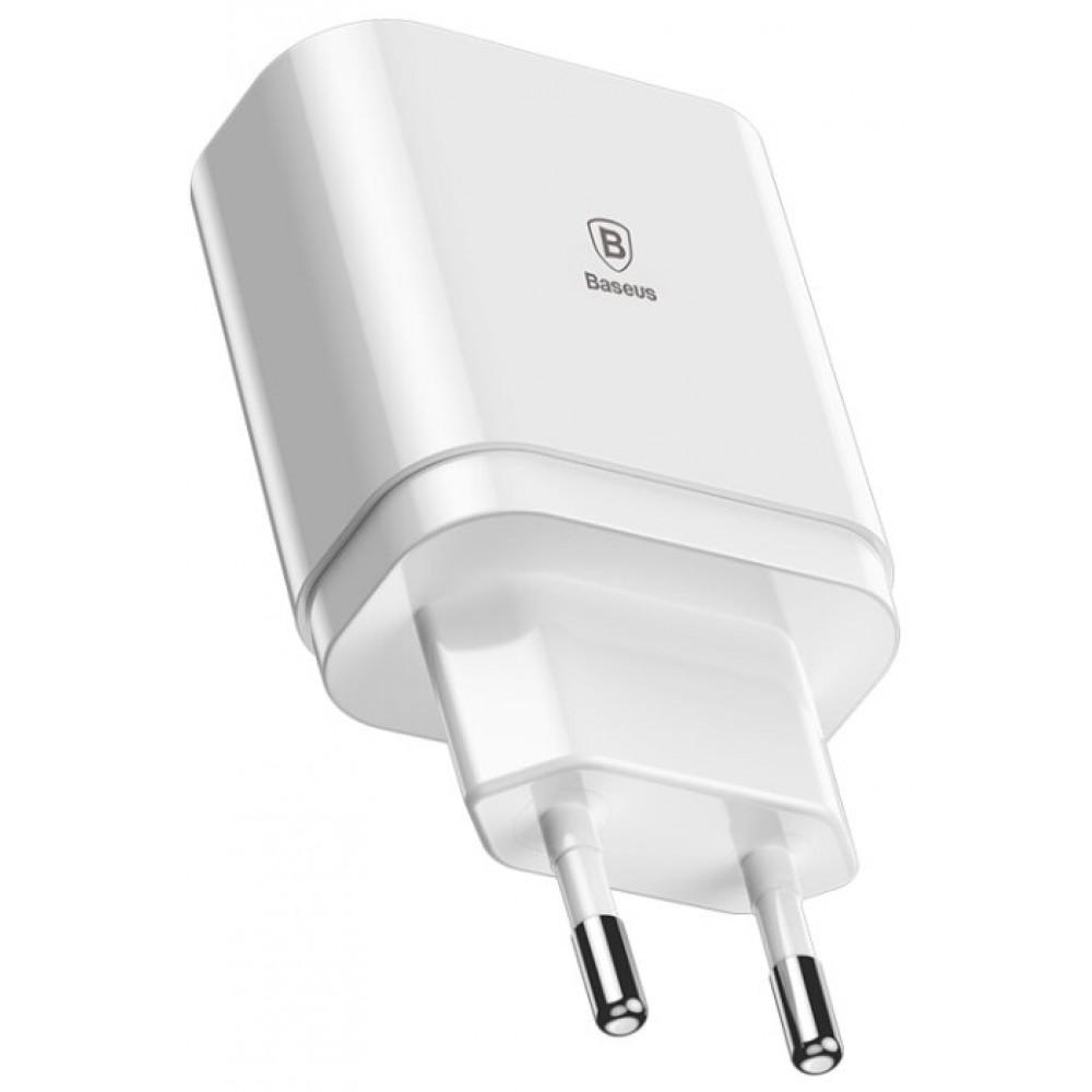 Сетевое зарядное устройство Baseus Mirror Travel Charger, белый цвет