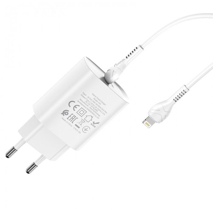Сетевое зарядное устройство с кабелем USB-C/Lightning Hoco N14 USB-C PD 20W