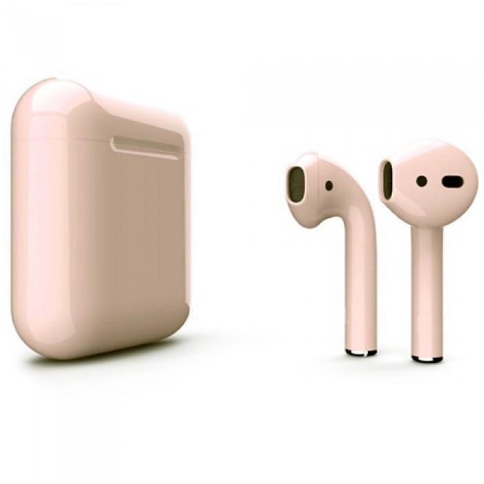 Apple AirPods 2 Color (без беспроводной зарядки чехла), глянцевый бежевый цвет