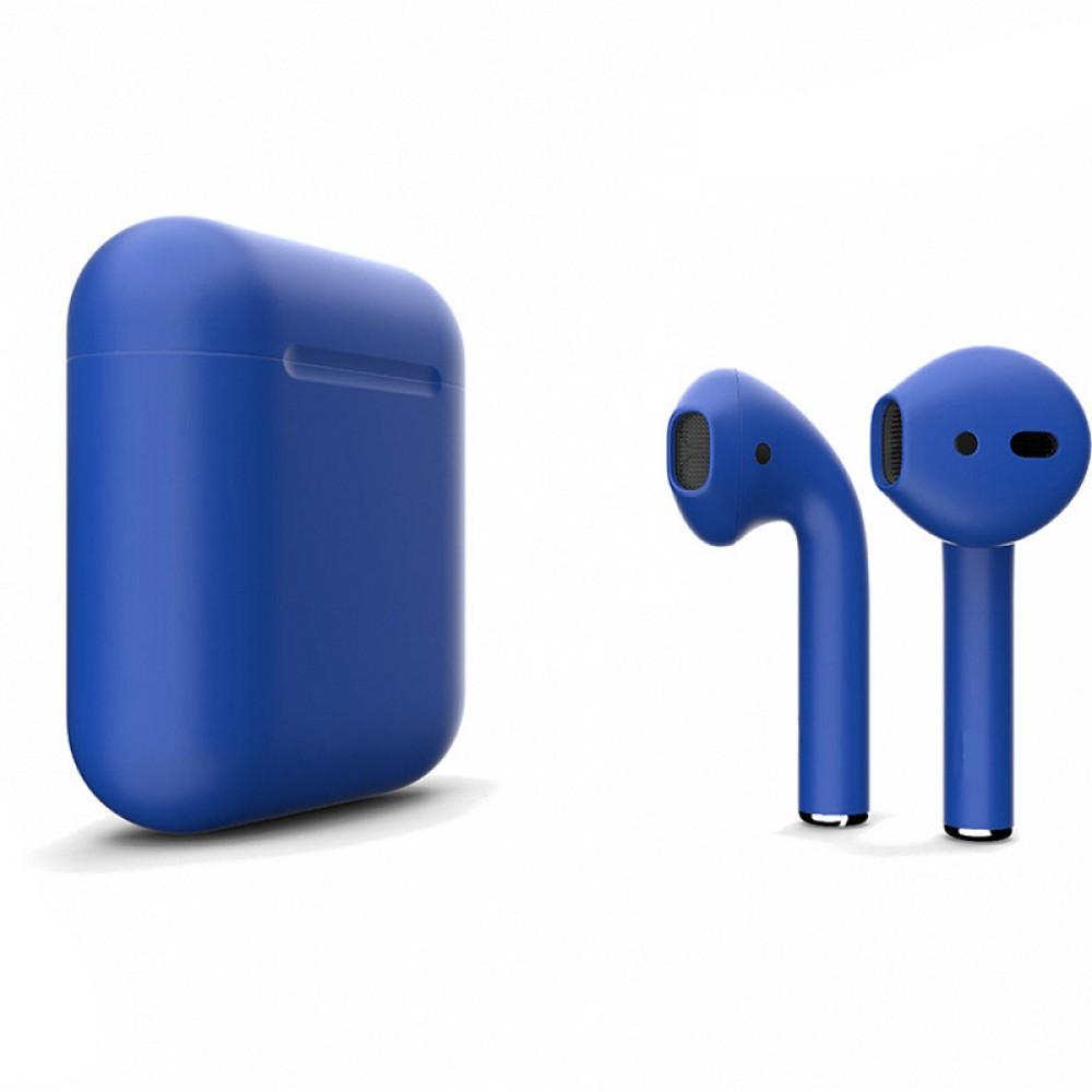Apple AirPods 2 Color (беспроводная зарядка чехла), матовый синий цвет