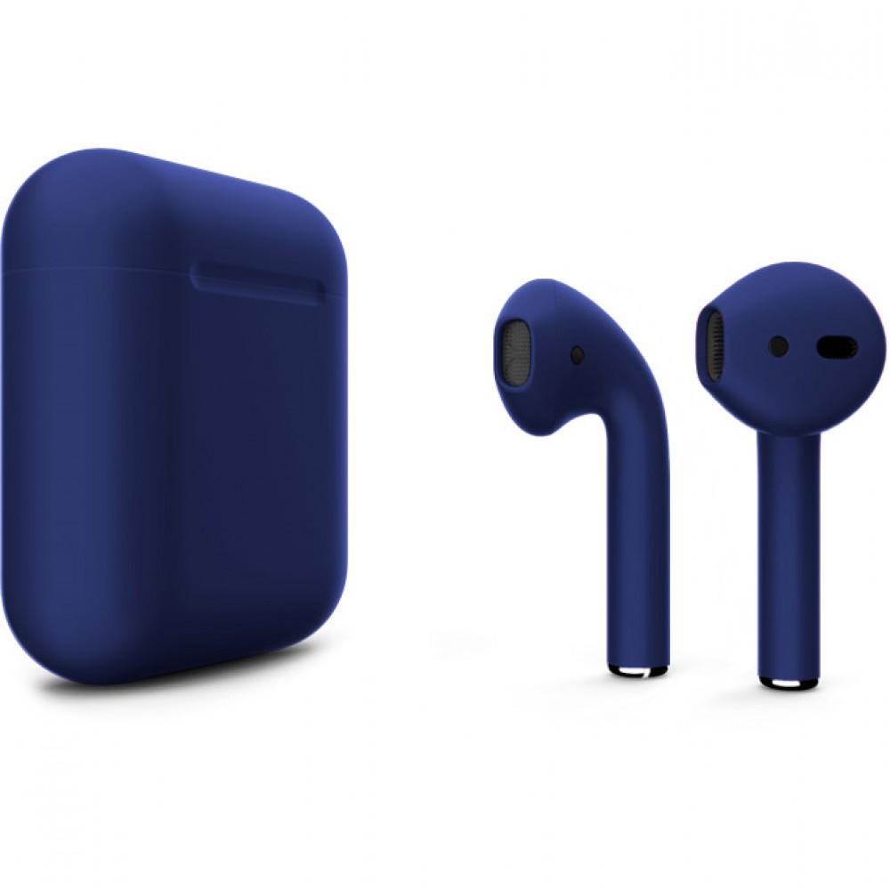 Apple AirPods 2 Color (без беспроводной зарядки чехла), матовый тёмно-синий цвет