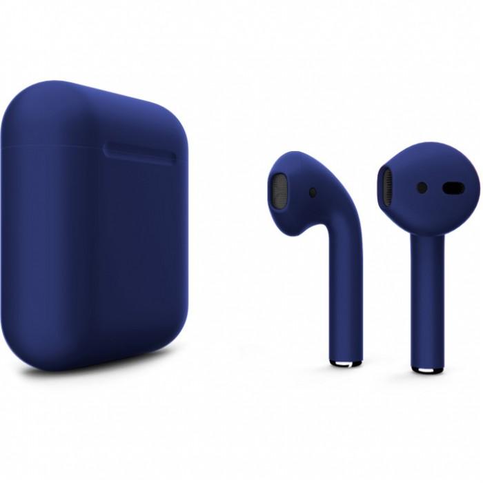 Apple AirPods 2 Color (беспроводная зарядка чехла), матовый тёмно-синий цвет