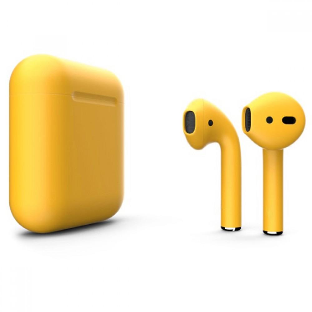 Apple AirPods 2 Color (беспроводная зарядка чехла), матовый золотой цвет