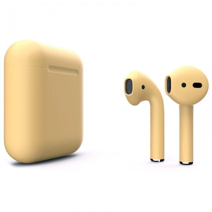 Apple AirPods 2 Color (беспроводная зарядка чехла), матовый сливочный цвет