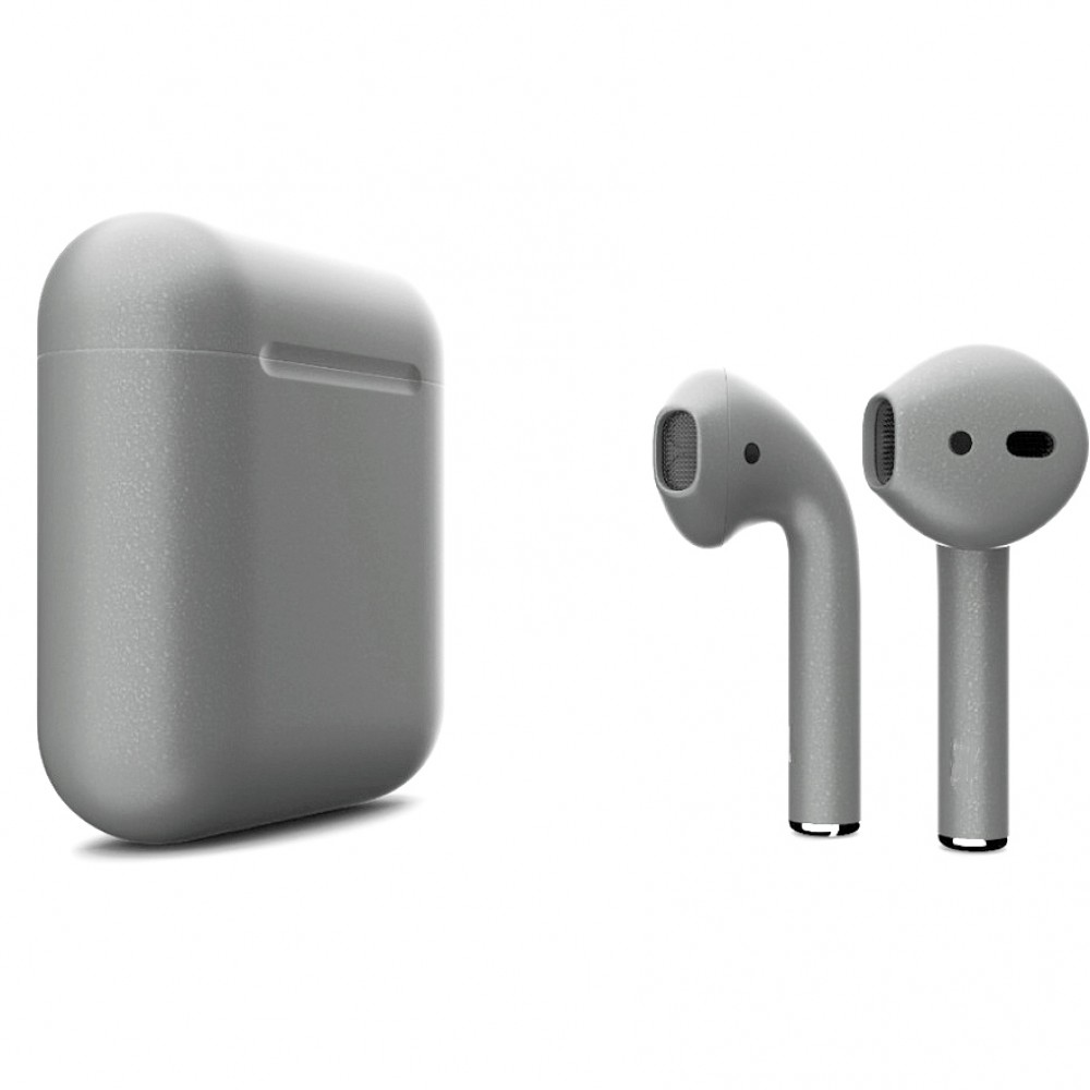 Apple AirPods 2 Color (беспроводная зарядка чехла), матовый серый цвет