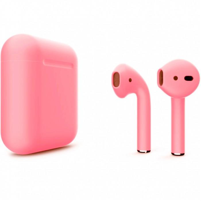 Apple AirPods 2 Color (беспроводная зарядка чехла), матовый розовый цвет
