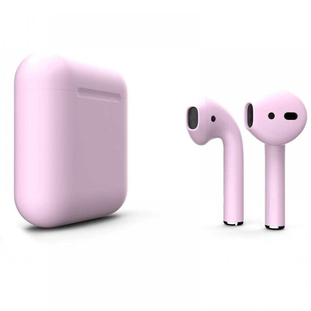 Apple AirPods 2 Color (беспроводная зарядка чехла), матовый пастельно-розовый цвет