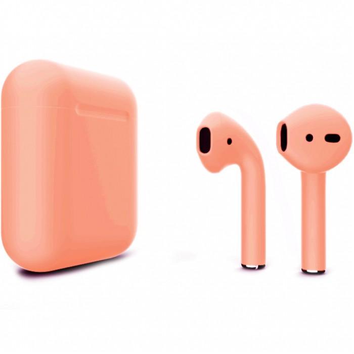 Apple AirPods 2 Color (беспроводная зарядка чехла), матовый персиковый цвет