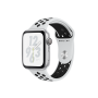Apple Watch Nike+ Series 4, 44 мм, корпус из алюминия серебристого цвета, спортивный ремешок Nike цвета «чистая платина/чёрный»