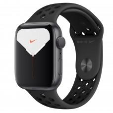Apple Watch Nike Series 5, 44 мм, корпус из алюминия цвета «серый космос», спортивный ремешок Nike цвета «антрацитовый/чёрный»