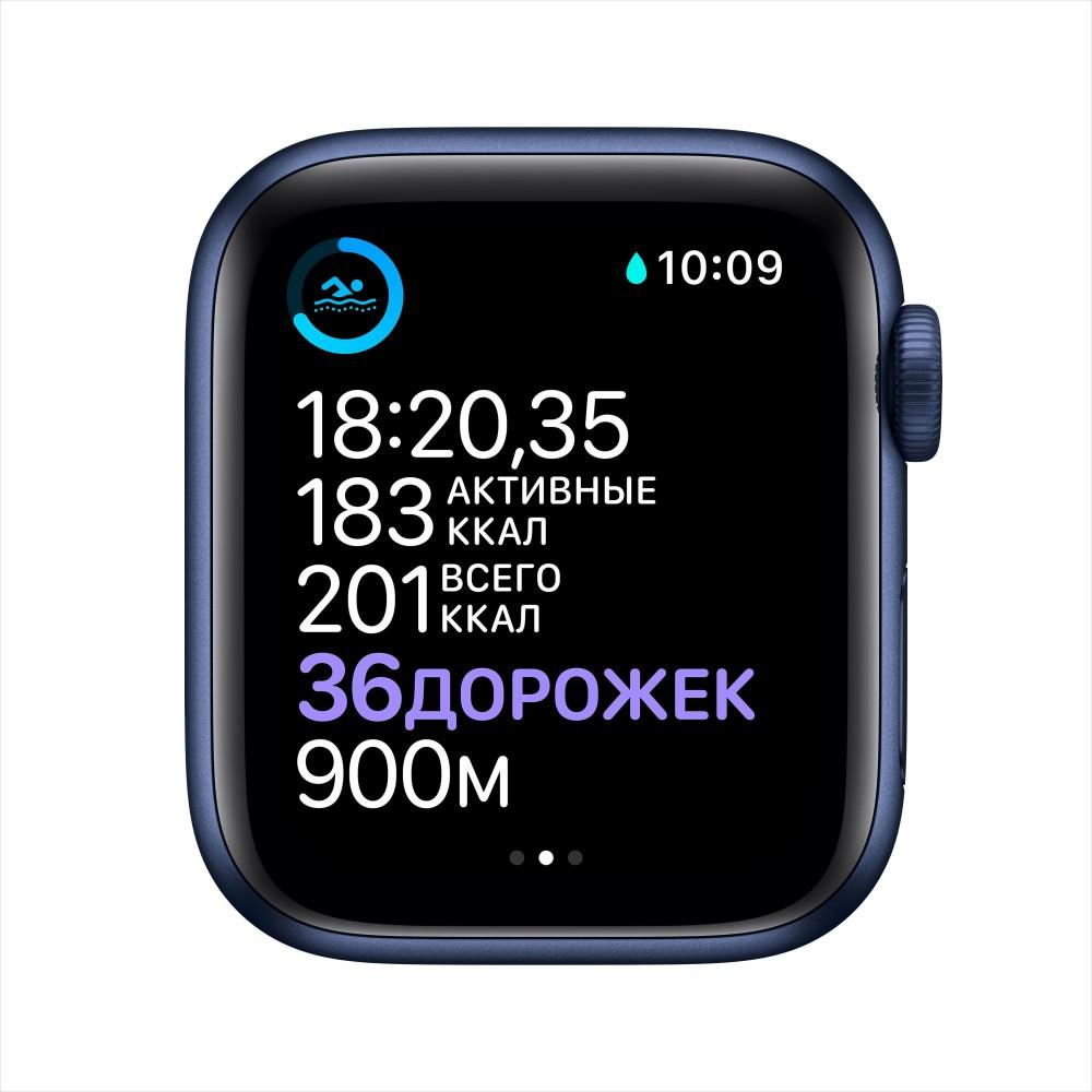 Apple Watch Series 6, 40 мм, корпус из алюминия синего цвета, спортивный ремешок
