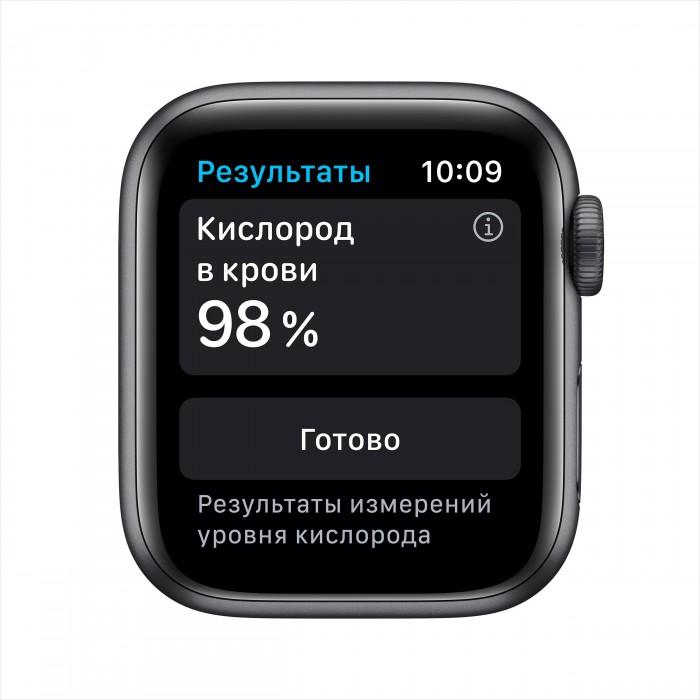 Apple Watch Series 6, 40 мм, корпус из алюминия цвета «серый космос», спортивный ремешок
