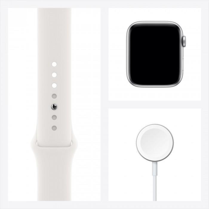 Apple Watch Series 6, 44 мм, корпус из алюминия серебристого цвета, спортивный ремешок