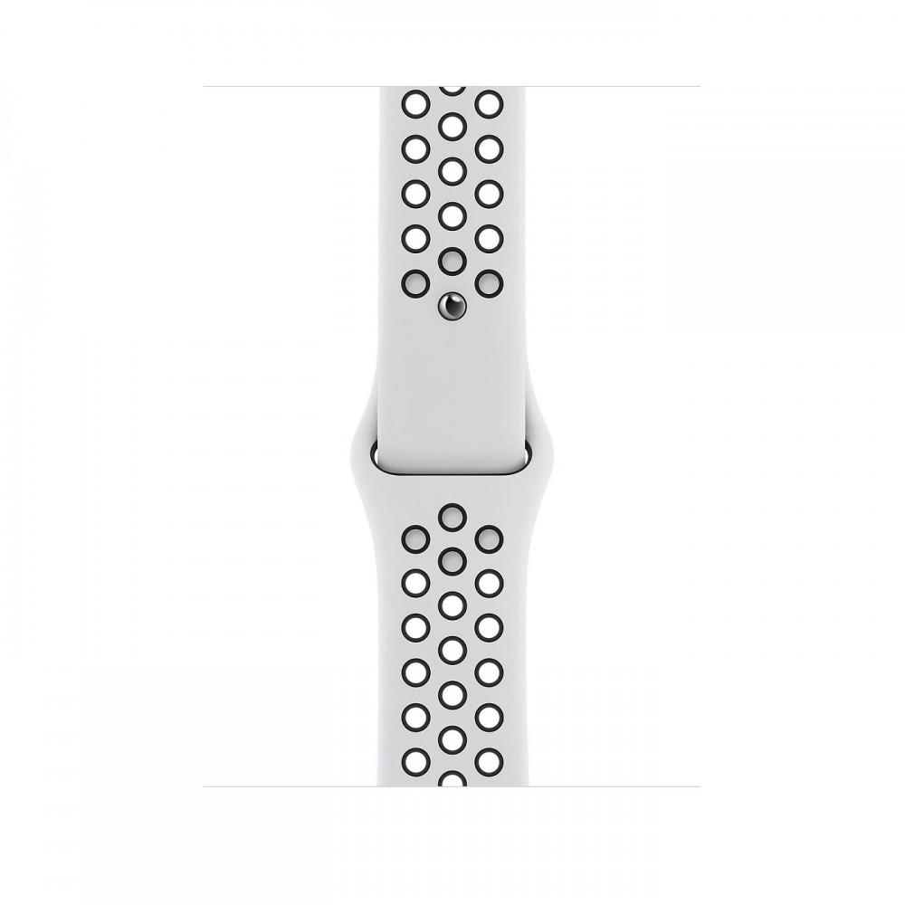 Apple Watch Nike Series 6, 44 мм, корпус из алюминия серебристого цвета, спортивный ремешок Nike