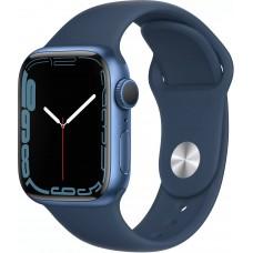 Apple Watch Series 7, 41 мм, корпус из алюминия синего цвета, спортивный ремешок цвета «синий омут»