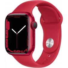 Apple Watch Series 7, 41 мм, корпус из алюминия цвета (PRODUCT)RED, спортивный ремешок цвета (PRODUCT)RED