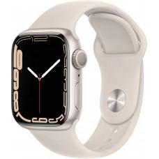 Apple Watch Series 7, 41 мм, корпус из алюминия цвета «сияющая звезда», спортивный ремешок цвета «сияющая звезда»