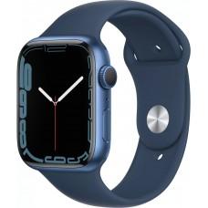 Apple Watch Series 7, 45 мм, корпус из алюминия синего цвета, спортивный ремешок цвета «синий омут»