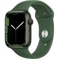 Apple Watch Series 7, 45 мм, корпус из алюминия зелёного цвета, спортивный ремешок цвета «зелёный клевер»