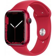 Apple Watch Series 7, 45 мм, корпус из алюминия цвета (PRODUCT)RED, спортивный ремешок цвета (PRODUCT)RED