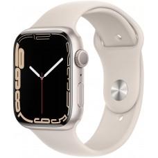 Apple Watch Series 7, 45 мм, корпус из алюминия цвета «сияющая звезда», спортивный ремешок цвета «сияющая звезда»