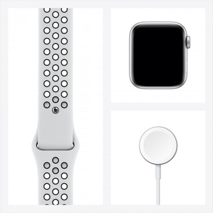 Apple Watch Nike SE, 40 мм, корпус из алюминия серебристого цвета, спортивный ремешок Nike