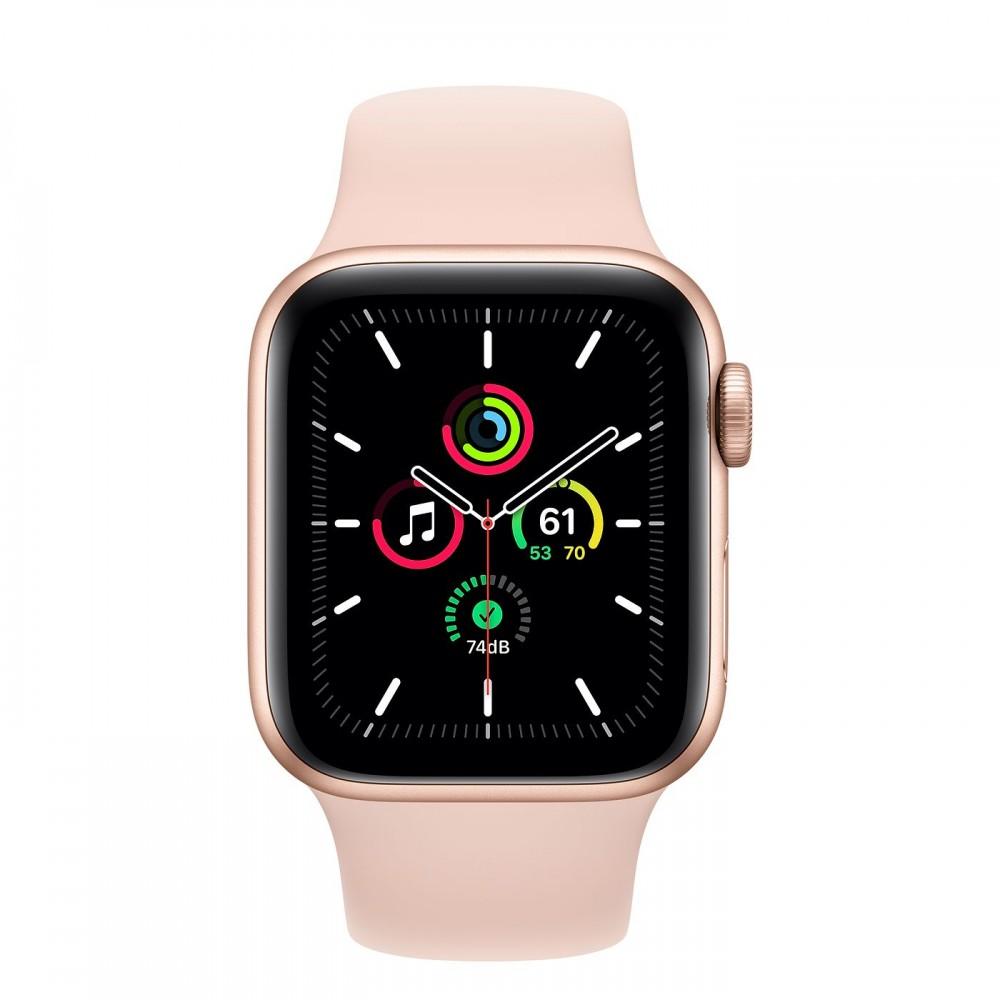 Apple Watch SE GPS 40мм, корпус из алюминия золотого цвета, спортивный ремешок