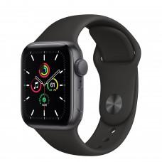 Apple Watch SE GPS 40мм, корпус из алюминия цвета «серый космос», спортивный ремешок