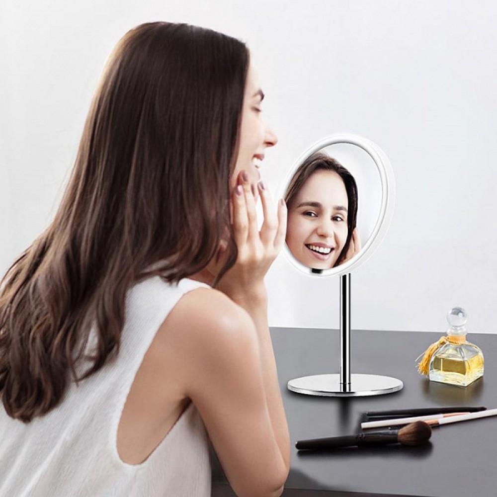 Зеркало косметическое настольное Xiaomi Yeelight LED Lighting Mirror (YLGJ01YL) с подсветкой