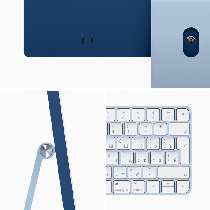 "iMac 24"" 2021, Retina 4.5K, M1, 7-core GPU, 8 ГБ, 256 ГБ SSD, синий"