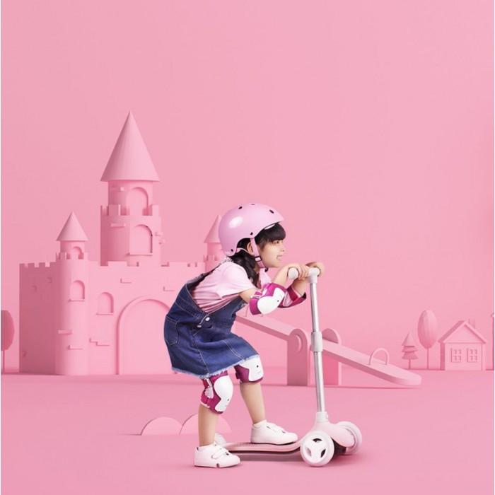 Детский кикборд Xiaomi Rice Rabbit Scooter розовый (HBC01YM)
